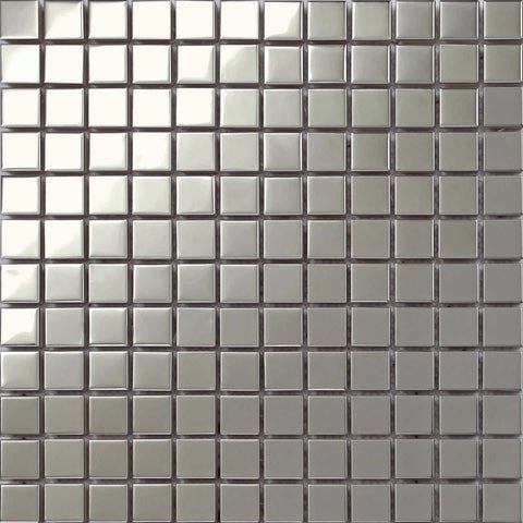 Polished Stainless Steel Mosaic Tiles Bathroom Shower Kitchen (MT0130)