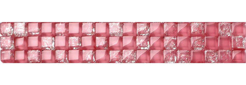 Pink Mosaic Tiles Border | Pink Kitchen Tile Trim | Grand Taps