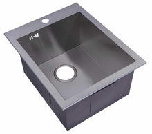 Load image into Gallery viewer, 400 x 500mm Inset Single Bowl Handmade Stainless Steel Kitchen Sink with Pre-punched Tap Hole (DS021-1)