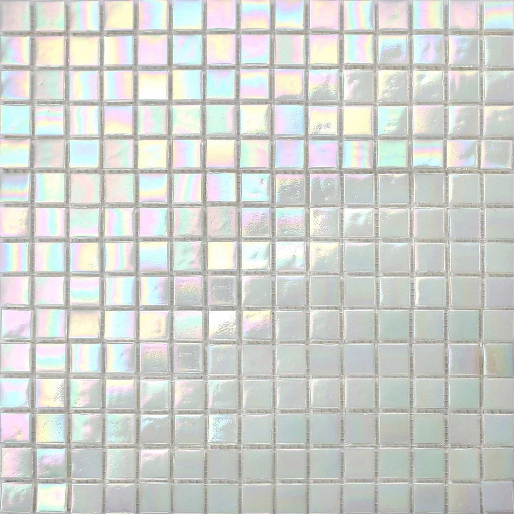 iridescent bathroom tiles white iridescent vitreous glass mosaic tile sheet mt0131 13276
