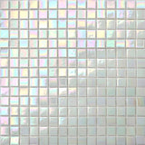 White Iridescent Vitreous Glass Mosaic Tiles (MT0131)