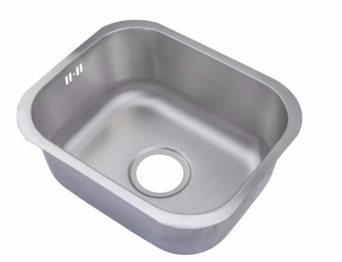 435 x 360mm Undermount Brushed Stainless Steel Single Bowl Kitchen Sink (A12 BS)