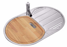 Load image into Gallery viewer, 780 x 500mm Polished Stainless Steel Sink With Chopping Board (LA002)