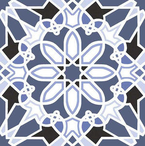 Mediterranean Spanish Orange Blue Pattern Floor Tiles | Grand Taps