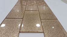 Load image into Gallery viewer, Rose Gold Glitter Subway Tile 75mm x 150mm  (MT0200)
