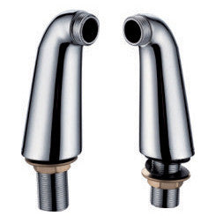 Pair Of Tall Bath Mixer Tap Elbow Pillar Adapter Legs (140mm)