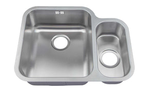 Undermount 1.5 Bowl Satin Steel Kitchen Sink & Mixer Tap | Grand Taps