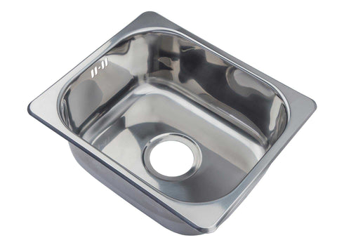420 x 363mm Polished Stainless Steel Inset Kitchen Sink (A11)
