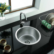 Load image into Gallery viewer, 286mm Compact Inset Round Utility Room Sink (M12)