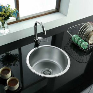 286mm Compact Inset Round Utility Room Sink (M12)