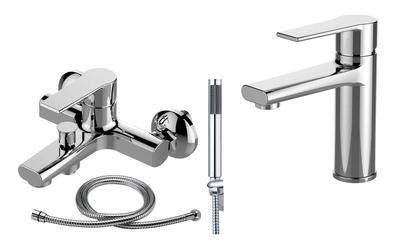 Chrome Bath and Shower Mixer Tap & Basin Tap Set | Grand Taps