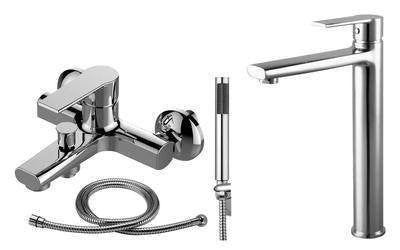 Bath & Shower Mixer And Tall Basin Mixer Tap Set (Brenz 47)