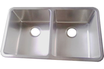 790 x 458mm Brushed Undermount Double Bowl Stainless Steel Kitchen Sink (D01)