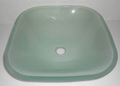 420 x 420mm Square Counter Top Frosted Tempered Glass Basin (B0028)