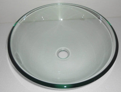 Clear Tempered Glass Round Bowl Bathroom Wash Basin And Click Clack Waste B0026