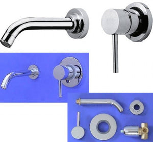 Wall Mounted Single Lever Chrome Basin Mixer Tap (FEN 8)