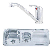 Load image into Gallery viewer, Stainless Steel Kitchen Sink & Mixer Tap 1000 x 480mm  | Grand Taps