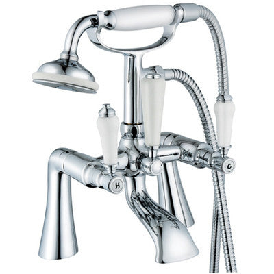 Traditional Bath Mixer Tap & Shower (Swan 4)