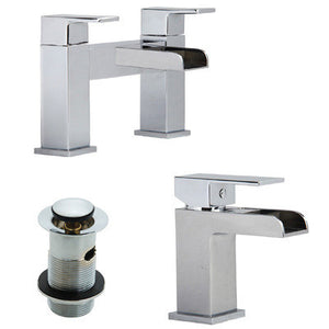 Open Spout Bath & Basin Mixer Tap Set (Desire 51)