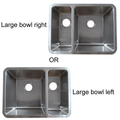Brushed Undermount 1.5 Bowl Stainless Steel Sink (D03)