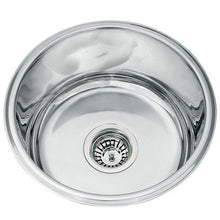 Load image into Gallery viewer, 415mm Polished Undermount Round Stainless Steel Kitchen Sink L45A