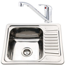 Load image into Gallery viewer, 580 x 480mm Inset Reversible Stainless Steel Sink & Mixer Tap | Grand Taps