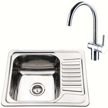 Load image into Gallery viewer, Compact Inset Kitchen Utility Room Sink And Mixer Tap Set | Grand Taps