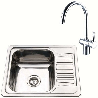 Compact Inset Kitchen Utility Room Sink And Mixer Tap Set | Grand Taps