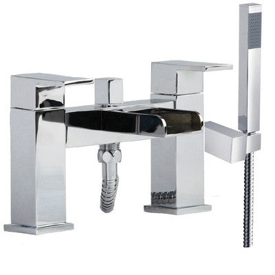 Modern Open Spout Waterfall Bath Mixer Tap & Shower (Desire 4)