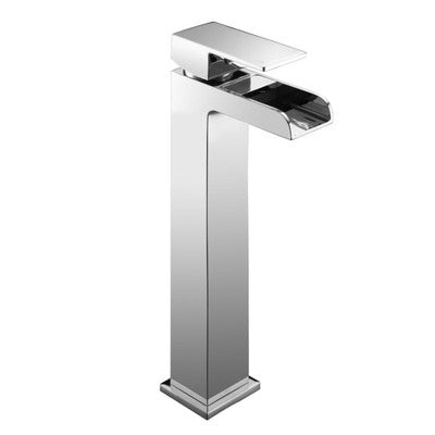 Tall Modern Open Spout Waterfall Basin Mixer Tap (Desire 7)