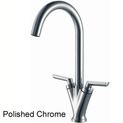 Dual Lever Kitchen Sink Mixer Tap (8026 Chrome)