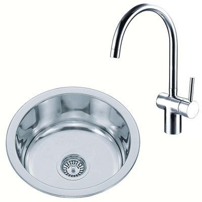 Compact Kitchen Sink And Mixer Tap Set (KST020)