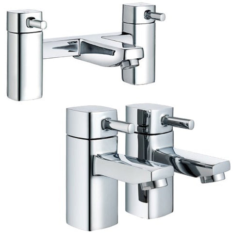 Modern Square Bath & Basin Tap Set (ICE 52)