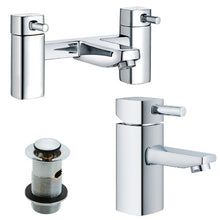 Load image into Gallery viewer, Modern Square Bath & Basin Mixer Tap Set (ICE 51)