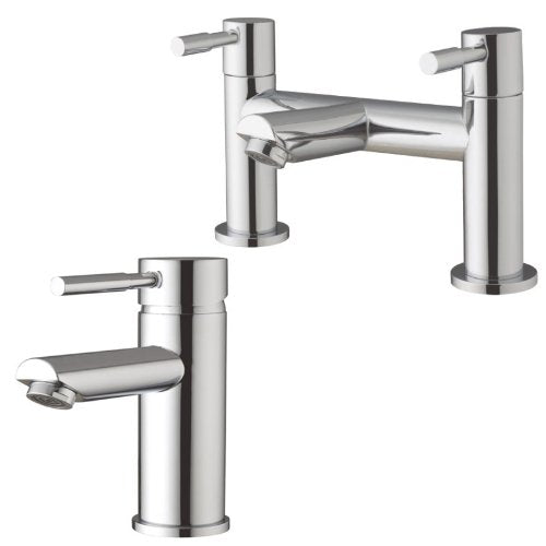 Chrome Modern Minimalist Bath Mixer Tap & Basin Mixer Tap | Grand Taps