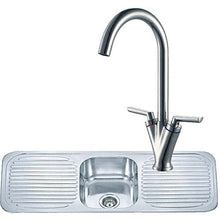 Load image into Gallery viewer, 1180 x 480mm Inset Double Drainer Kitchen Sink & Mixer Tap | Grand Taps