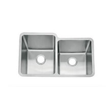 Load image into Gallery viewer, Brushed Undermount 1 3/4 Bowls Stainless Steel Sink (D04)