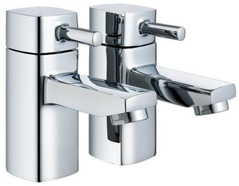 Hot & Cold Modern Square Basin Taps (ICE 2)