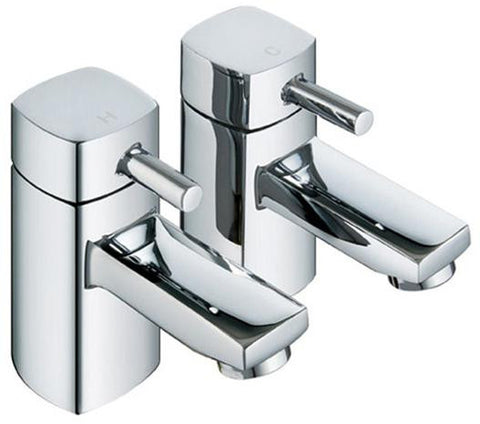 Hot & Cold Modern Square Bath Taps (ICE 3)