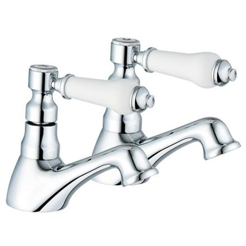 Hot & Cold Traditional Basin Taps (Swan 2)