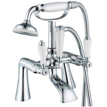 Load image into Gallery viewer, Traditional Ceramic Handle Bath Mixer & Basin Tap Set (Swan 42)
