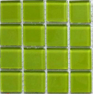 Green Glass Mosaic Tiles (MT0023)