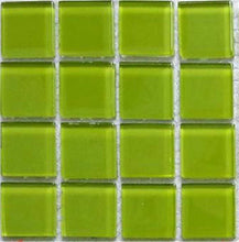 Load image into Gallery viewer, Sample of Green Glass Mosaic Mosaic Tiles Sheet (MT0023)
