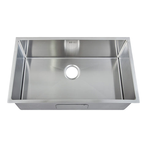 740 x 440 mm Rectangle with Rounded Corners Undermount Single Bowl Handmade Satin Stainless Steel Kitchen Sink (DS017)