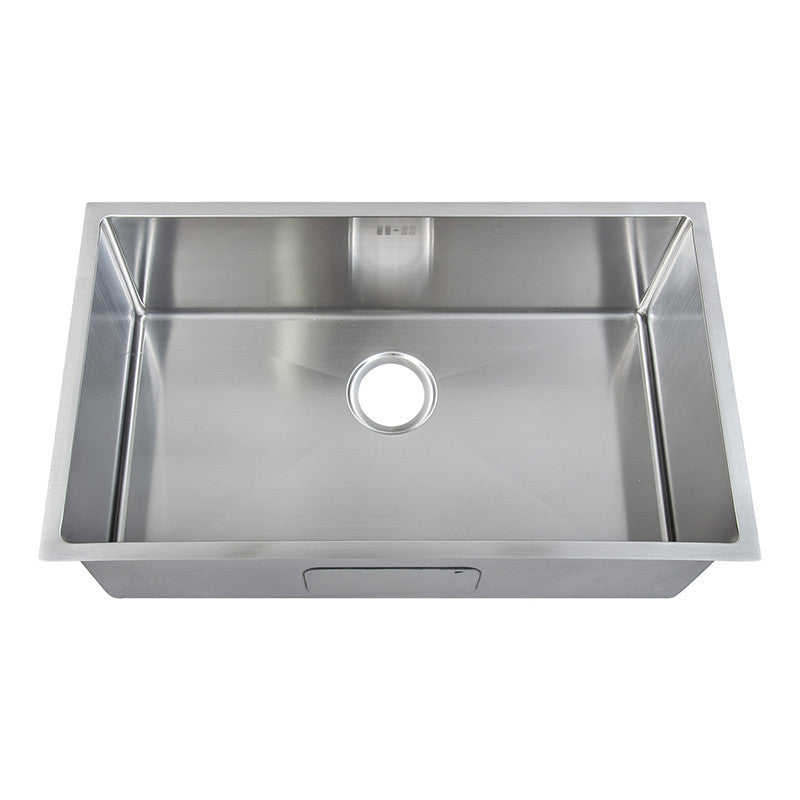 740x440mm Rounded Corners Undermount Single Bowl Handmade Kitchen Sink Grand Taps