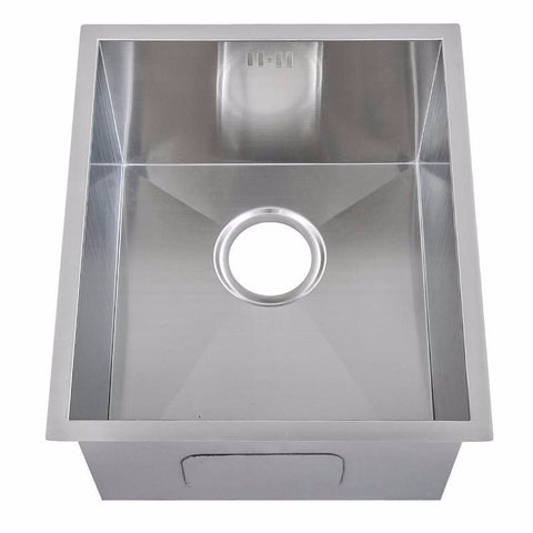 380 x 440mm Undermount Single Bowl Handmade Satin Stainless Steel Sink (DS005-175)