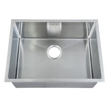 590 x 440mm Undermount Deep Single Bowl Handmade Stainless Steel Kitchen Sink With Easy Clean Corners (DS016)