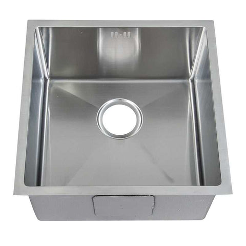 440 x 440mm Undermount Single Bowl Handmade Stainless Steel Kitchen Sink With Easy Clean Corners (DS015)