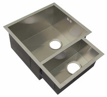 Load image into Gallery viewer, 600 x 480mm Undermount 1.5 Bowl Handmade Satin Stainless Steel Kitchen Sink (DS034)