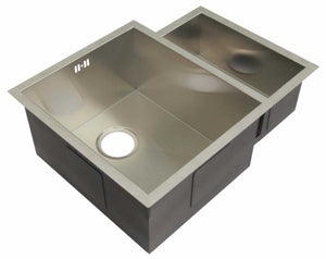 600 x 480mm Undermount 1.5 Bowl Handmade Satin Stainless Steel Kitchen Sink (DS034)
